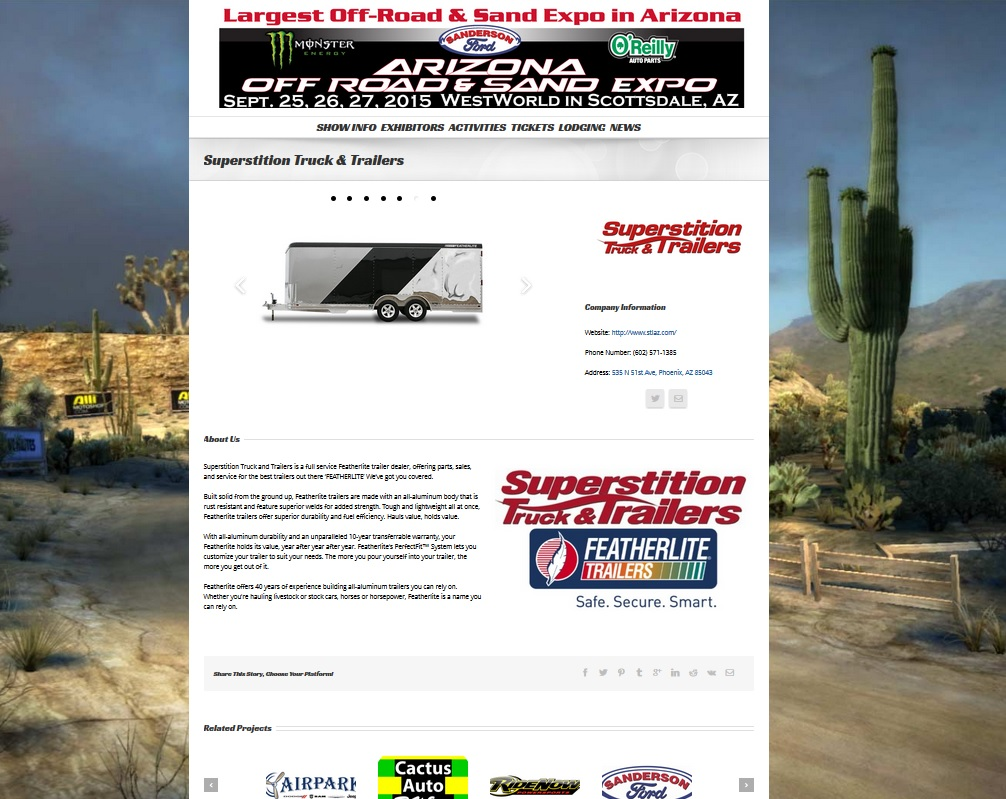 FEATHERLITE TRAILERS OFFROAD EXPO SCOTTSDALE